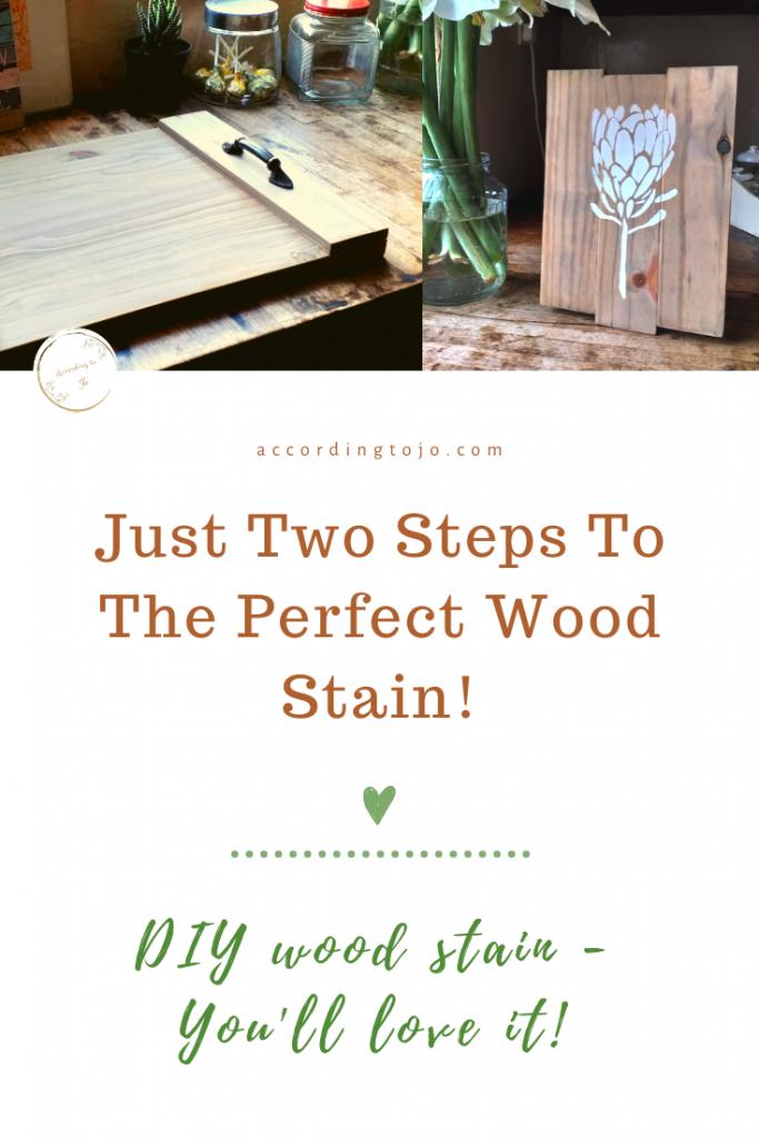 wood stain - home - decor - oxidation liquid - oxidized wood - accordingtojo.com