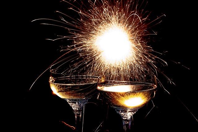 new year - resolutions - goals - champagne - celebrations - accordingtojo.com