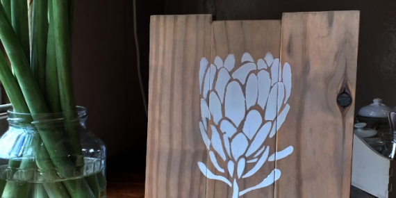 protea - wall art - home decor - DIY - accordingtojo.com