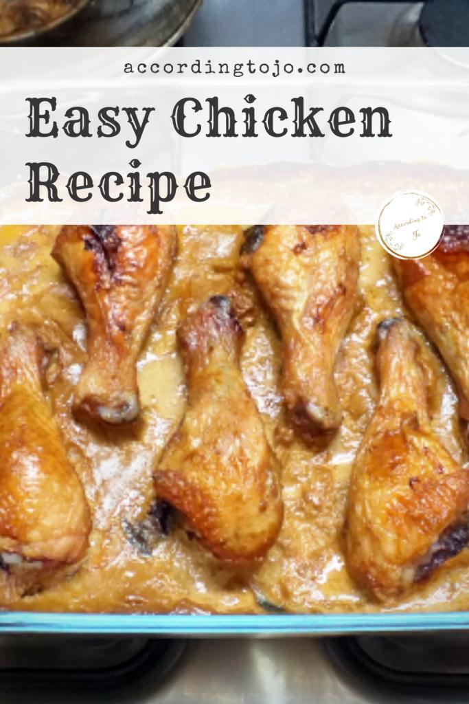 easy chicken recipe pin - accordingtojo.com