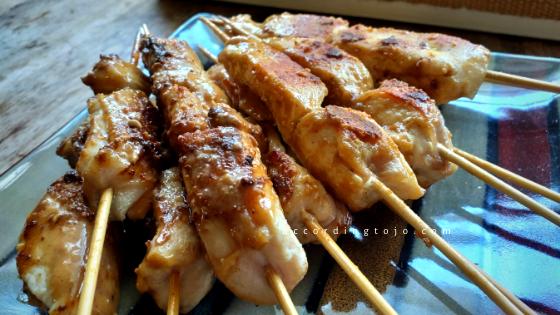 satay chicken skewers - accordingtojo.com