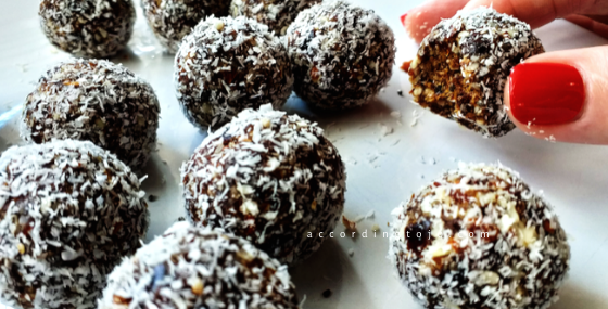 bliss balls - three-ingredient snack - accordingtojo.com