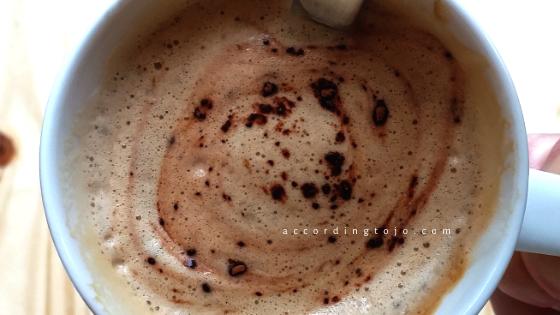 homemade cappuccino - foam with sprinkles on - accordingtojo.com